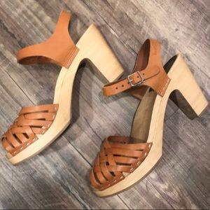 Swedish Hasbeens Shoes - Braided Sky High Swedish Hasbeens